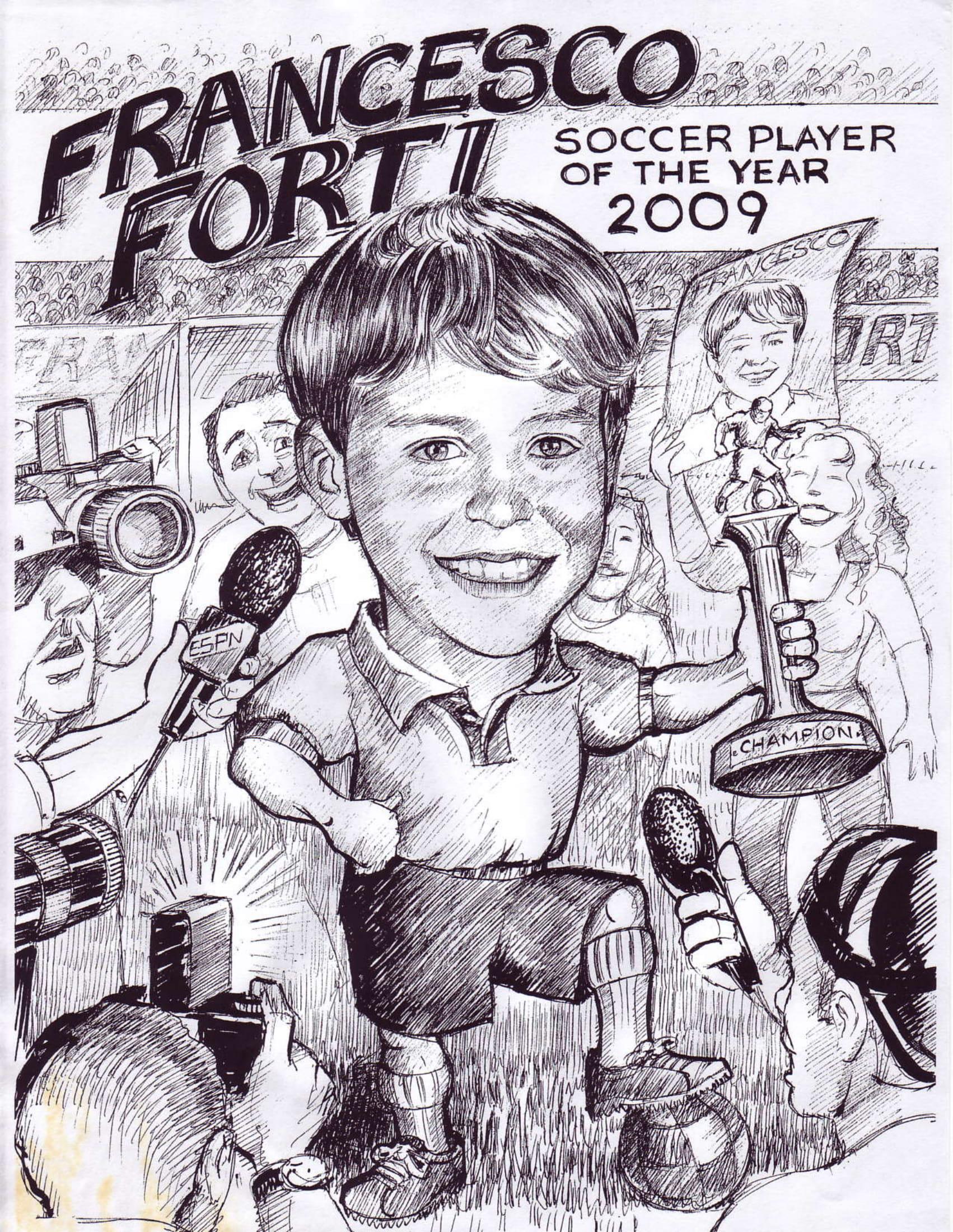 Francesco Luce Forti – caricatura fatta da Chico
