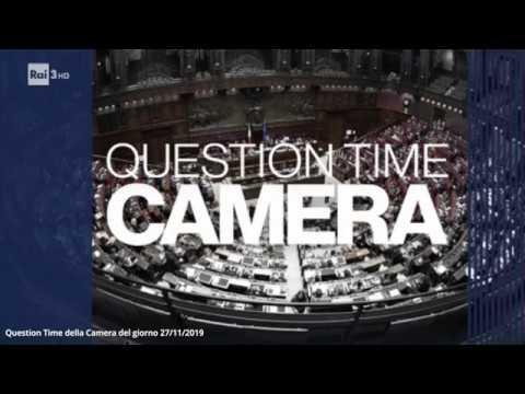 """""""Question Time Parlamento"""": interventi Rostan e Di Maio – 27/11/2019"""