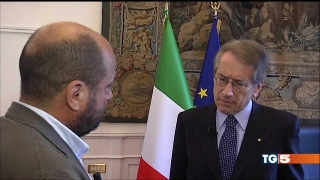 TG5 intervista al Ministro Giulio Terzi sul caso Chico Forti