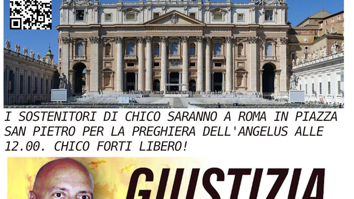 Sostenitori in Piazza San Pietro
