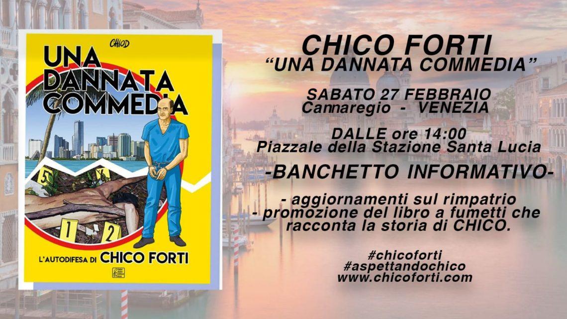 """SABATO 27 Cannaregio – Venezia, banchetto informativo """"Una Dannata Commedia"""""""