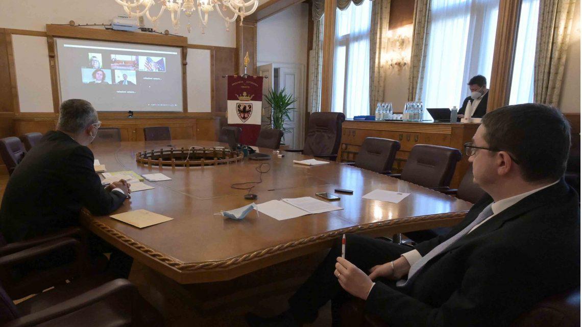 Presidente Fugatti colloquio con Console generale Stati Uniti d'America – relazioni economiche e Chico Forti