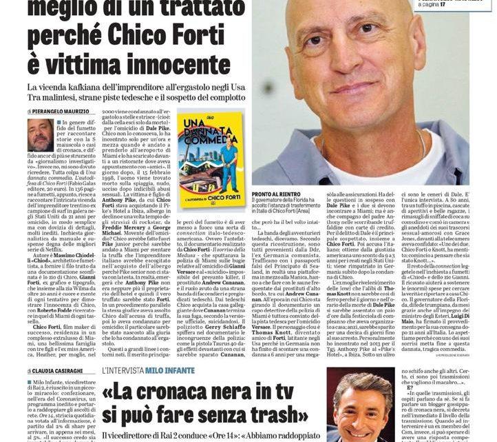 """LA VERITÀ – """"Un fumetto spiega meglio di un trattato perchè Chico Forti è vittima innocente"""""""