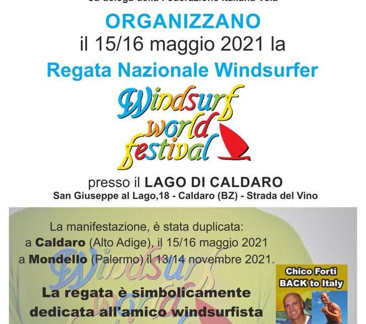 Regata Nazionale Windsurfer – 15/16 Maggio 2021 al Lago di Caldaro