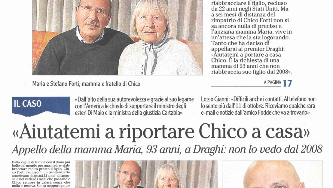 """L'ADIGE – Mamma Maria: """"Aiutatemi a riportare Chico a casa"""""""