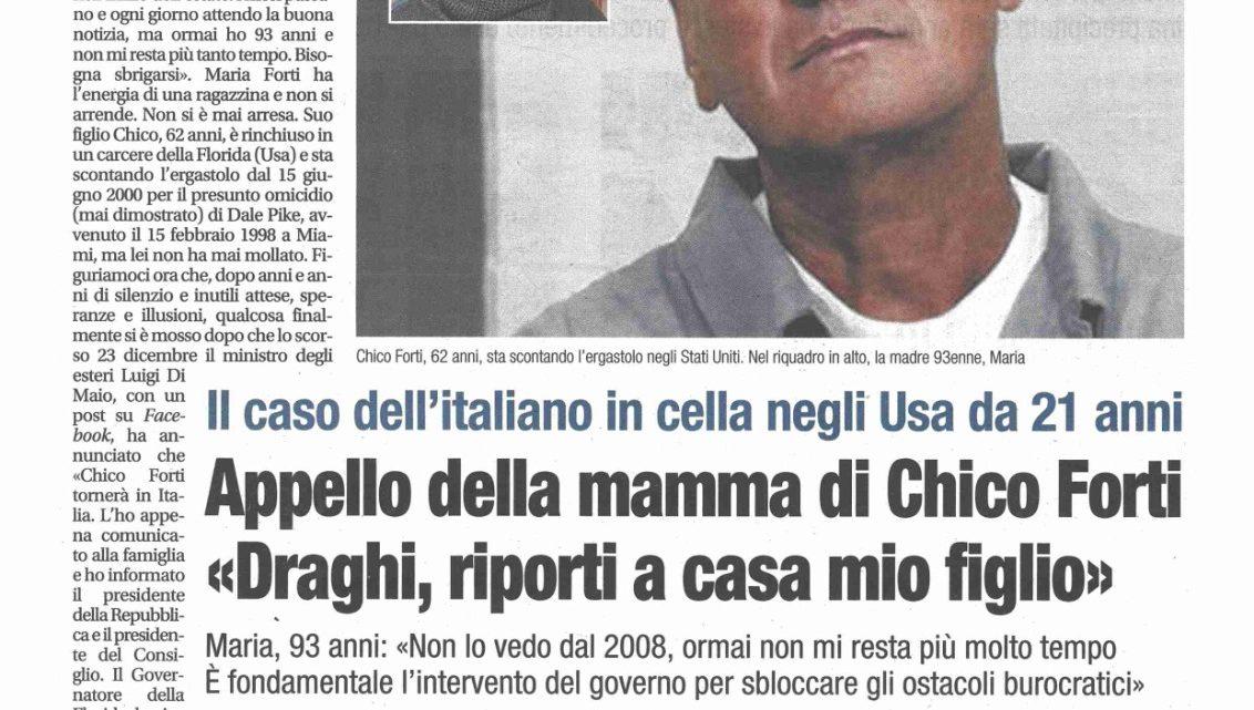 """Mamma Maria: """"Draghi, riporti a casa mio figlio. Non lo vedo dal 2008"""""""
