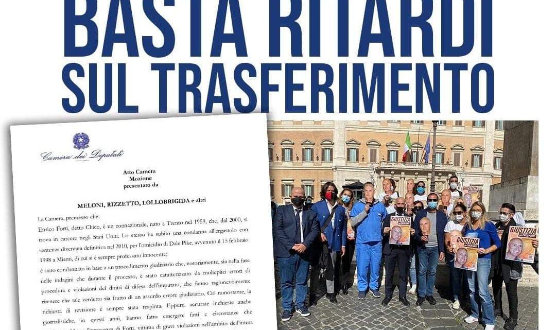 """Atto Camera Mozione: """"Chico Forti, basta ritardi sul trasferimento!"""""""