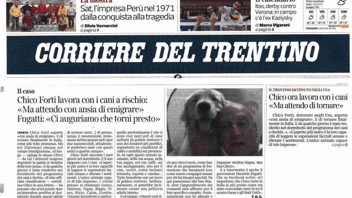 """CORRIERE DEL TRENTINO – """"Attendo con ansia di emigrare"""""""