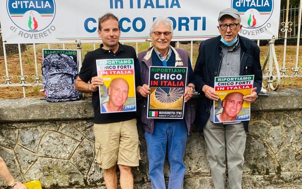 """ROVERETO – Fratelli d'Italia: """"Riportiamo Chico in Italia"""""""