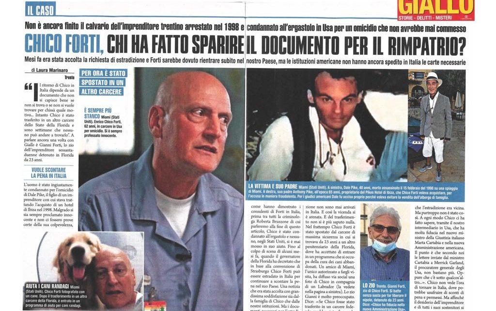GIALLO – Chico Forti, chi ha fatto sparire i documenti per il rimpatrio?
