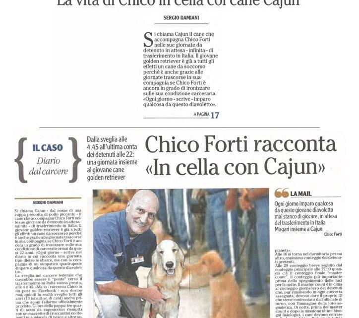 """L'ADIGE – """"Chico Forti racconta – in cella con Cajun"""""""