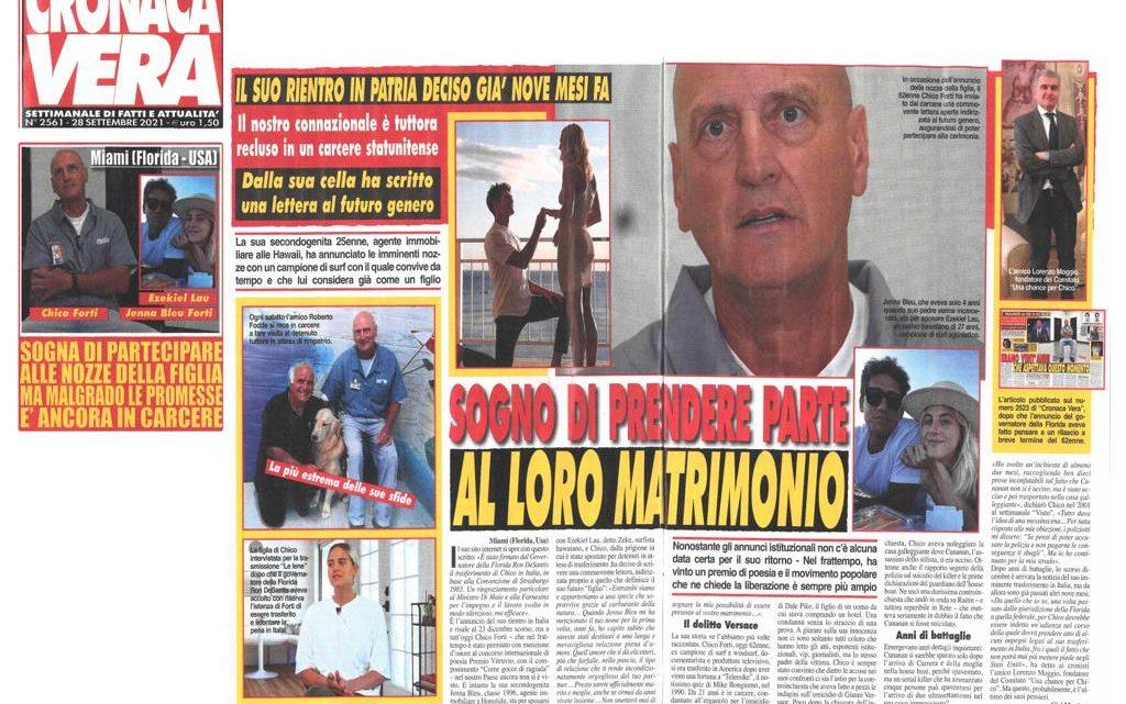 CRONACA VERA – Chico Forti sogna di partecipare alle nozze della figlia